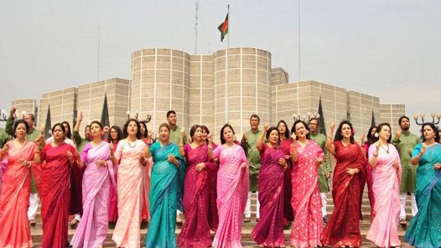 সাংস্কৃতিক সংগঠন 'জেমস অব নজরুলের' এক গানে একশ শিল্পী